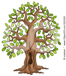 222335-Royalty-Free-RF-Clipart-Illustration-Of-A-Tall-Oak-Tree-With-A-Hole-In-The-Trunk