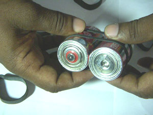 Battery-rubber-fixing