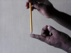 one pencil finger