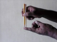 two pencil finger
