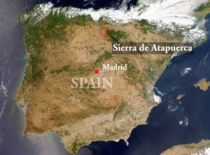 Satellite Image of The Iberian Peninsula Spain and Portugal